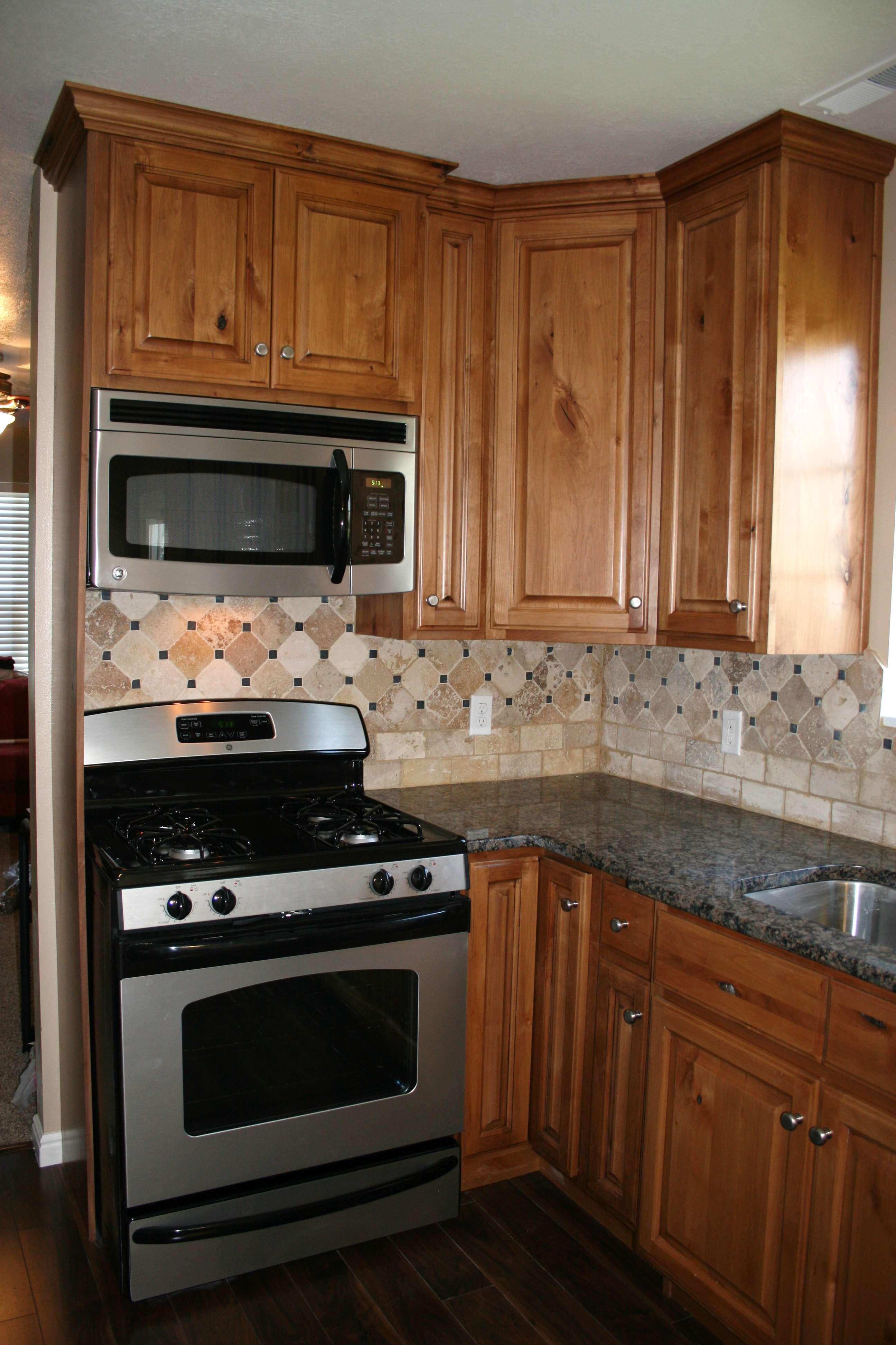 Kitchen W Granite Countertops Custom Tile Backsplash New Laminate. Kraut  Construction ...